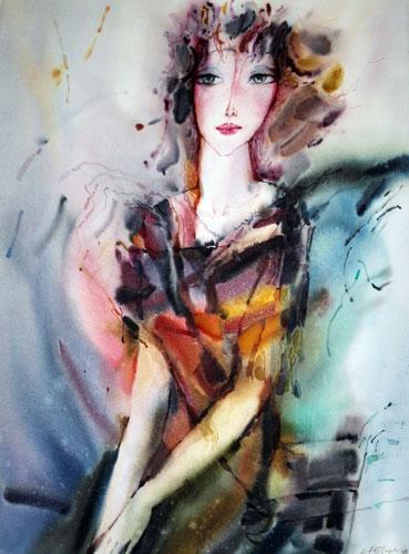 angeline watercolor alexander klevan
