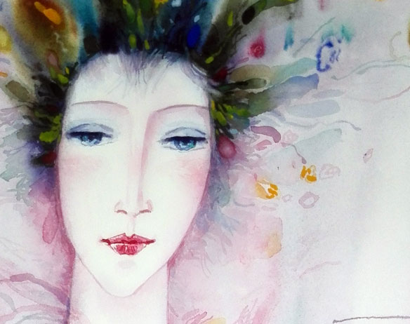 The Spring watercolor alexander klevan