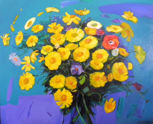 flowers yellow oil alexander klevan