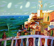 oil on canvas Town alexander klevan