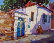 old tel aviv streets oil Alexander Klevan