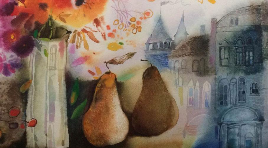 watercolor pears  alexander klevan