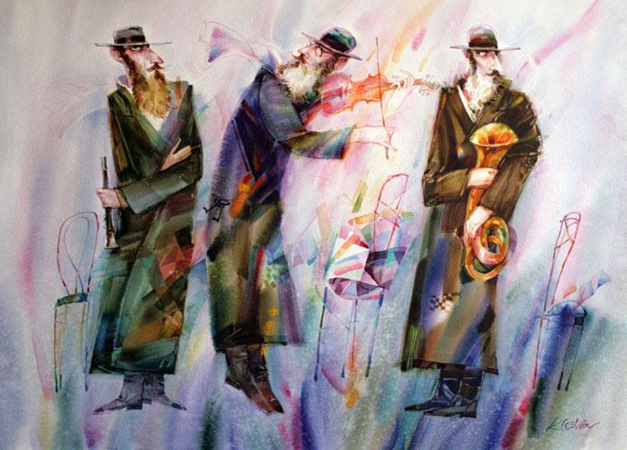 Violin solo watercolor alexander klevan